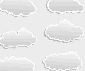 Cartoon clouds 3 vectors