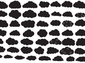 cloud silhouette creative vector