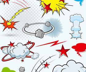 Cartoon explosion 2 vector