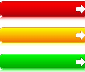 Web Colored Buttons vector