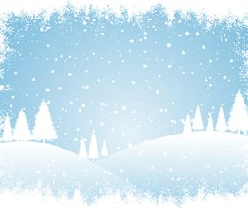 Winter Snow Mountain background vector
