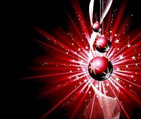 Christmas baubles and red background 1 vector