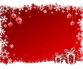 Christmas baubles and red background 2 vector