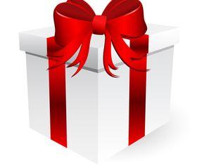 Red ribbon gift box design vector