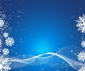Snowflake dynamic lines background vector material