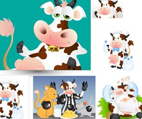 Cartoon Cow vector graphics