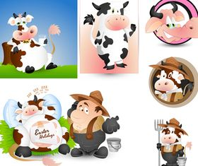 Cartoon Dairy Cow vector