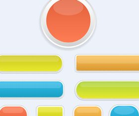 Glossy Buttons Illustration vector