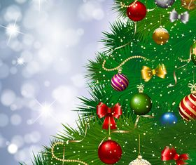 Christmas baubles background 1 vector