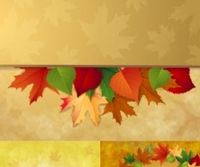 charm autumn background vector