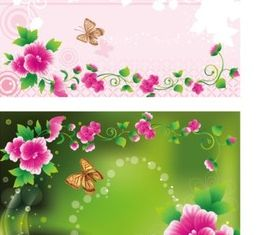 Plant flower background vector