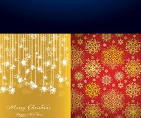 Bright christmas design elements background vector