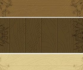 Wooden Banners vector graphic
