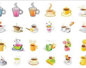 Coffee Cups graphic vector