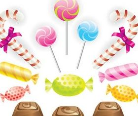 Different Candies Vector graphics