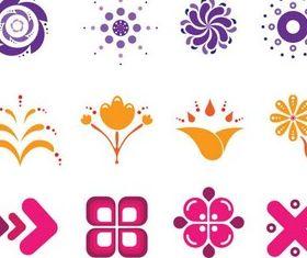 Cute Abstract Logotypes Vector vector