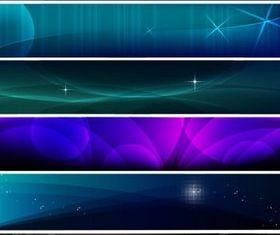 Dark Blue Banners Vector vectors