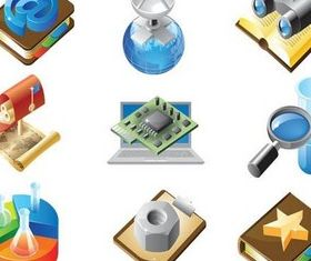Technical Objects Icons art vector