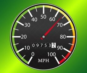 Speedometer Icon Vector vector