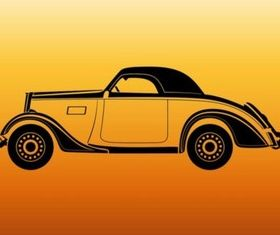 Vintage Car Outlines vector