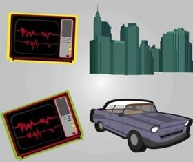 Urban Retro Graphics vectors material