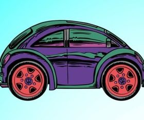 Cartoon Car Illustration vector