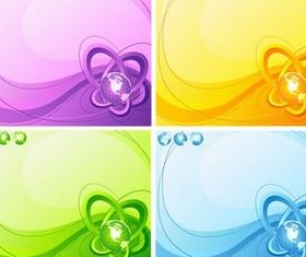 Stylish Globe Backgrounds Vector vector