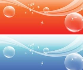 Bubble Colorful Banners Vector vector