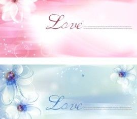 Elegant dream flower background vectors material