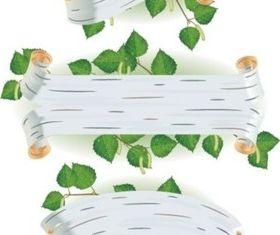 leaves banner vector
