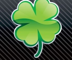 Shiny clover vector graphics
