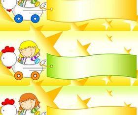 Children Banners Illustration vector