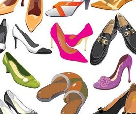 Different Shoes creative vector