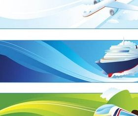 Transport Banners creative vector
