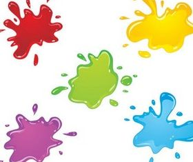 Colorful Water Blots vectors