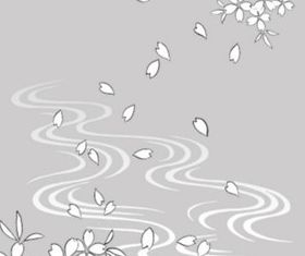 drawing water and flowers Illustration vector