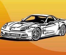 Fast Car Illustration vector