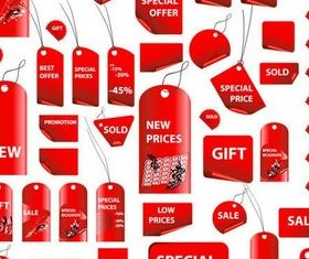 Different Red Tags vector