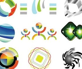 Glass Logo Templates design vector