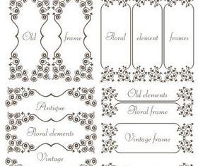 Swirl Ornament Frames vector