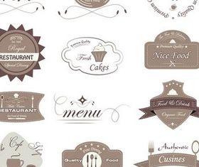 Cafe Labels free design vector