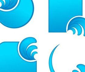 Waves Design Elements vector graphics