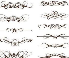 Swirl Ornament Elements vectors graphic