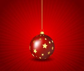 Christmas baubles background 3 vector