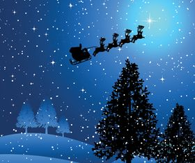 Christmas night background vectors