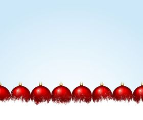 christmas baubles red vector