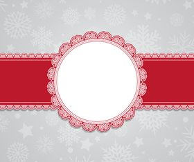 Christmas snowflake cards design vector