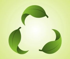 Recycling Leaves vector