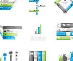 Infographics Symbols shiny vector