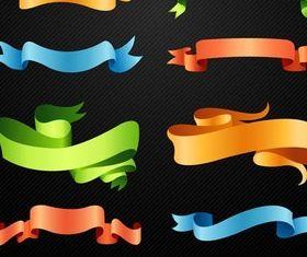 Shiny Ribbon Elements vector